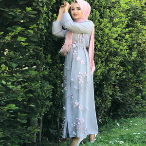 Image 5 - Floral Abaya Turkish Kimono Dubai Muslim Hijab Dress Abayas For Women Kaftan Caftan Marocain Prayer Islamic Clothing Robe Femme