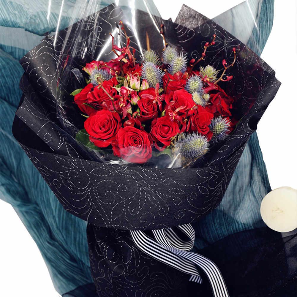 Luxury Non Woven Fabrics Flower Wrapping Paper Korean Floral Wrapper Florist Bouquet Decoration Supplies 10pcs Lot