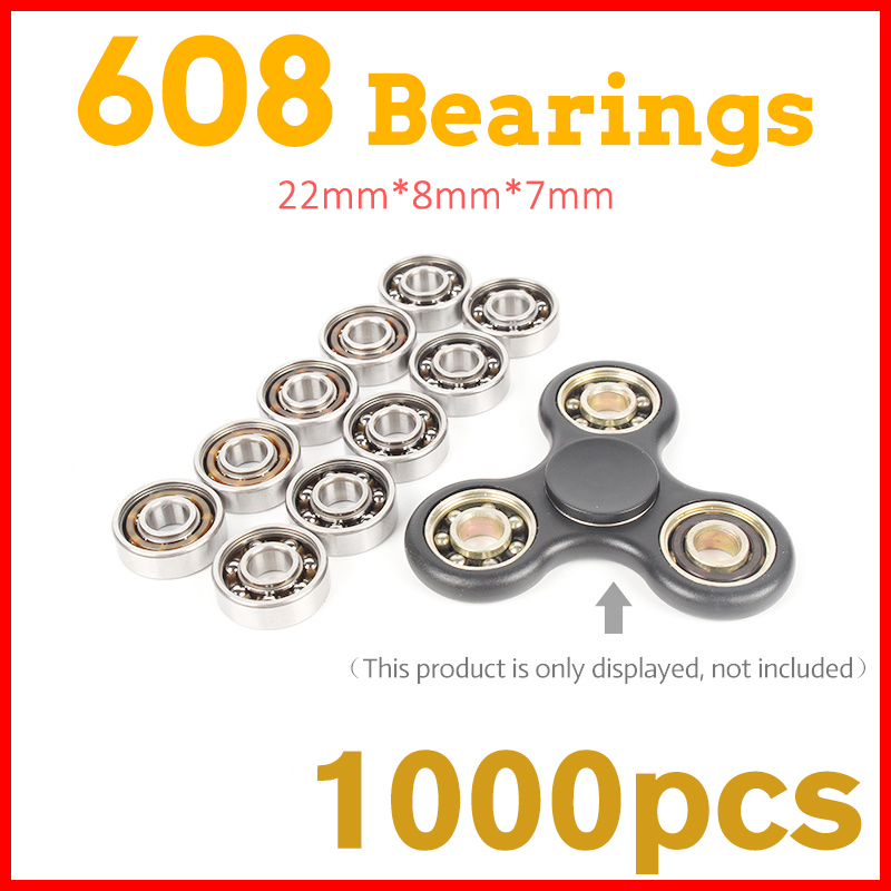 1000Pcs 608 Ball Bearing For hand spinners fidget Adult toys for children handspinner tri-spinner figit tri spinner  game led doub k 10pcs lot finger spinner alloy tri spinner sliding puzzles fidget for adult anxiety stress relief new toys hand spiner