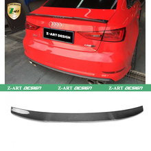 Z-ART A3 S3 Carbon Fiber Rear Wing Spoiler Auto car Trunk Lip Spoiler For Audi A3/S3 Sportback 2013UP High quality