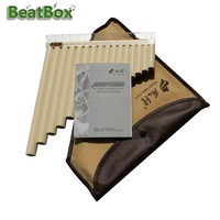 BeatBox 18 Pipes Pan Flute C Tone 18 Tube for Beginner Music Instrument Gift