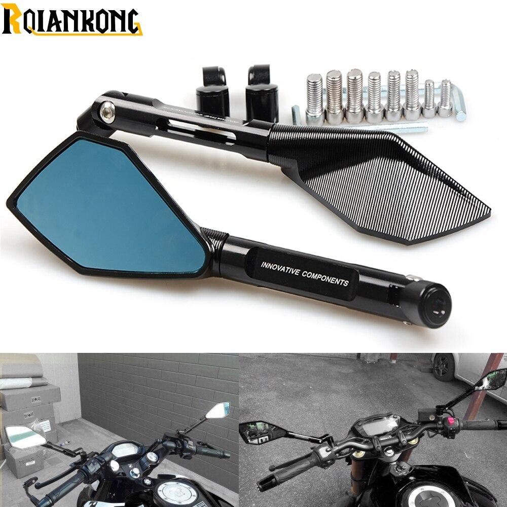 Moto rcycle зеркала moto rbike moto боковые зеркала заднего вида для Yamaha MT01 MT02 MT03 MT07 MT09 tmax 530 xt 600 xjr 1300 МБР 125