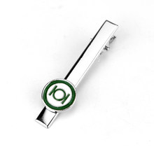 dongsheng New DC Comics Green Lantern Cufflinks Tie Clips Superhero Marvel Enamel Charm Jewelry For Men Shirt Jewelry -40(China)