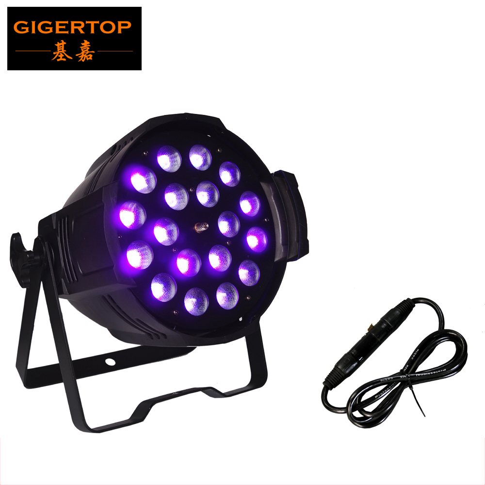 TIPTOP Stage Light 18*18W RGBWA UV 6IN1 Led Zoom Par Light Indoor Non-Waterproof Aluminum Case Cooling Fan Built In DMX 7/11 CH наклейки skoda fabia octavia spaceback roomster