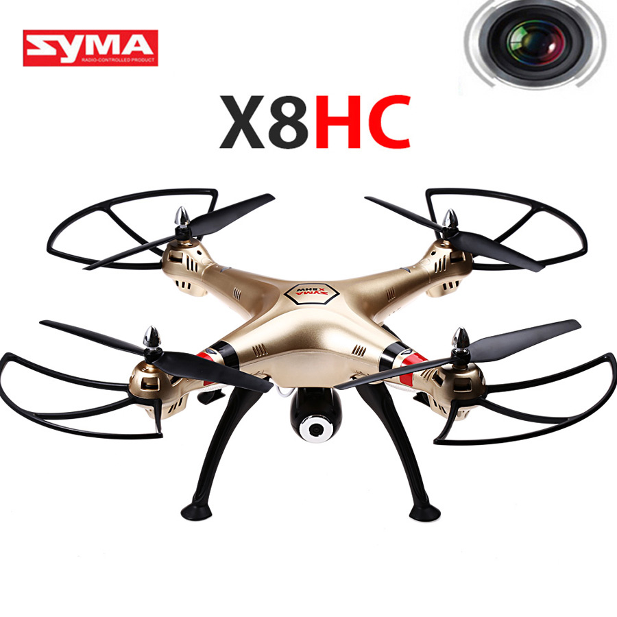 Syma X8HC 2.4G 4CH RC Quadcopter Helicopters Drones With Camera Automatic Hover And Headless Mode UAV Remote Control Toys