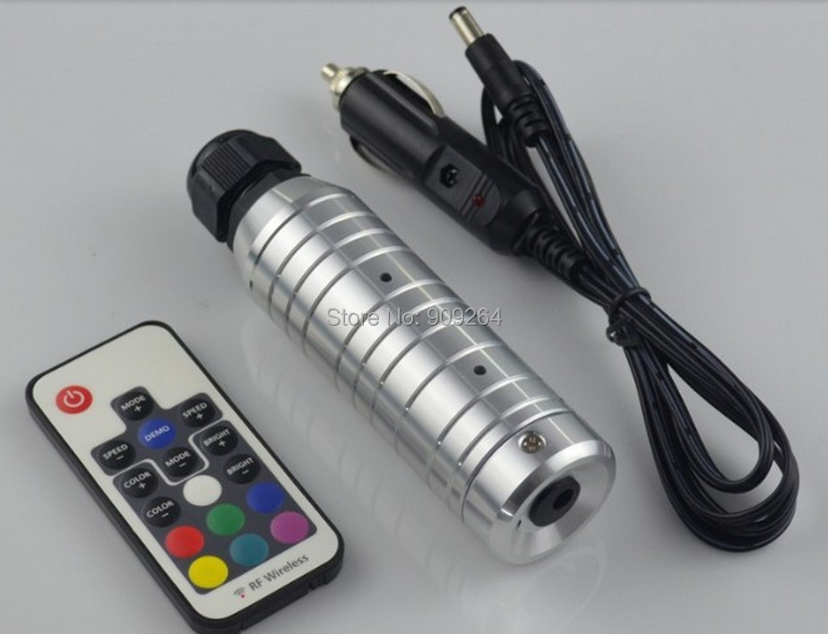 Free Shipping 6W RGB LED fiber optic illuminator,with 17key RF remote controller;car used,DC12V input. 27w led rgb fiber optic illuminator with 24key ir remote and shooting star wheel ac100 240v input