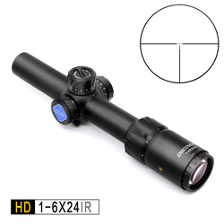 Discovery HD 1-6X24 IR Lunghi Eye Relief Riflescope di Caccia Tactical optical sight Illuminato R & G Rifle Scope misura 30 -06 308 AR15