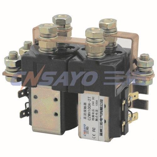 CZWH100A-2T/48V dc contactor dc reversing contactor dc182b 537t for forklift 48v 200a zapi b4dc21
