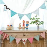 Хлопковые Флаги Баннер Вымпел Свадебные украшения винтажный детский Декор ко дню рождения
