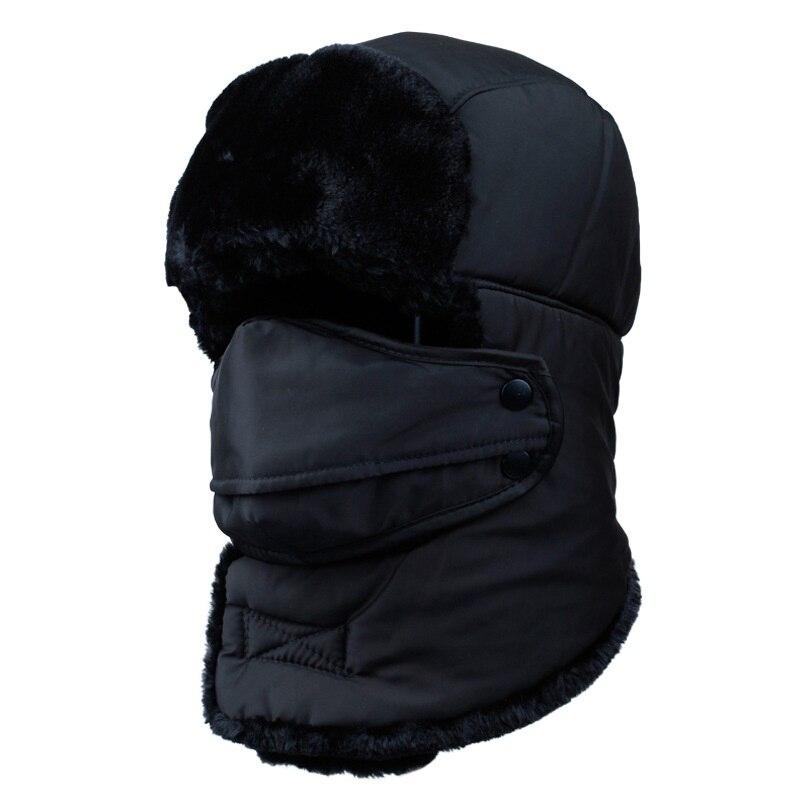2019 Fashion Warm Cap Skullies Beanies Winter Hat for Women Men Flannel Unisex Cap Beanie Outdoor Masked Hat