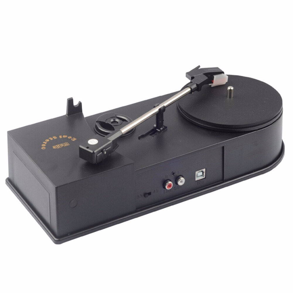 USB Portable Mini Vinyle Platine Audio Lecteur De Disque Platine Vinyle à MP3/WAV/CD Convertisseur Mini Phonographe Platine Tourne-Disque EC008-1