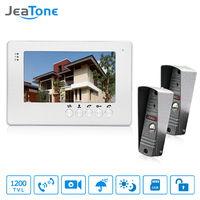 JeaTone Home Security 7 Inch TFT LCD Monitor Video Door Phone Intercom System With Night Vision