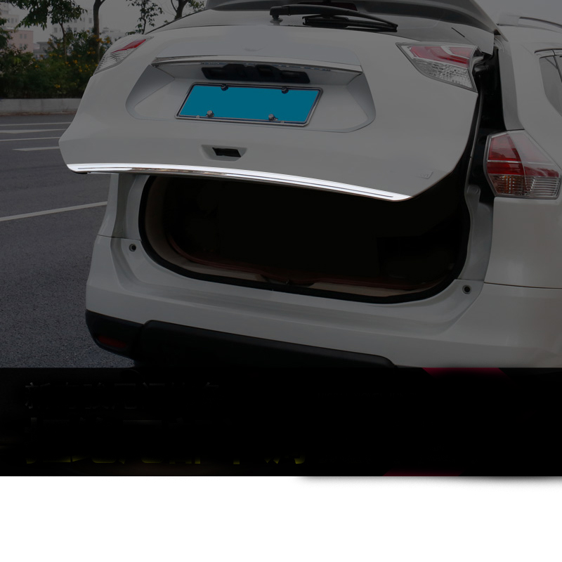 Stainless Rear Tailgate Door Trunk Lid Cover for Nissan Rogue X-Trail T32 2017