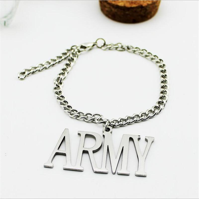 Youpop Wholesale KPOP Fan BTS Army Jimin Bracelets Bangtan Boys Bulletproof Boy album Boys and Girls Wristband Friendship Y3004