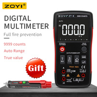 ZOYI ZT X True RMS AUTO Range Digital Multimeter AC/DC Voltmeter Ammeter Button 9999 Counts NCV Diode Tester DATA HOLD