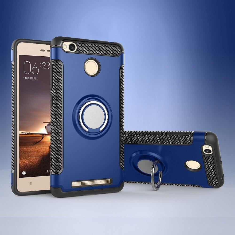 Case For Xiaomi Redmi 3S Case Hard PC+Soft Silicone Combo For Redmi 3S Case Ring Armor For Xiaomi Redmi 6A Pro