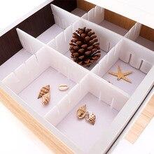 2 шт пластиковый ящик-сетка, сделай сам Разделитель бытовые предметы первой необходимости нижнее белье носок Органайзер-разделитель(Цвет: Белый