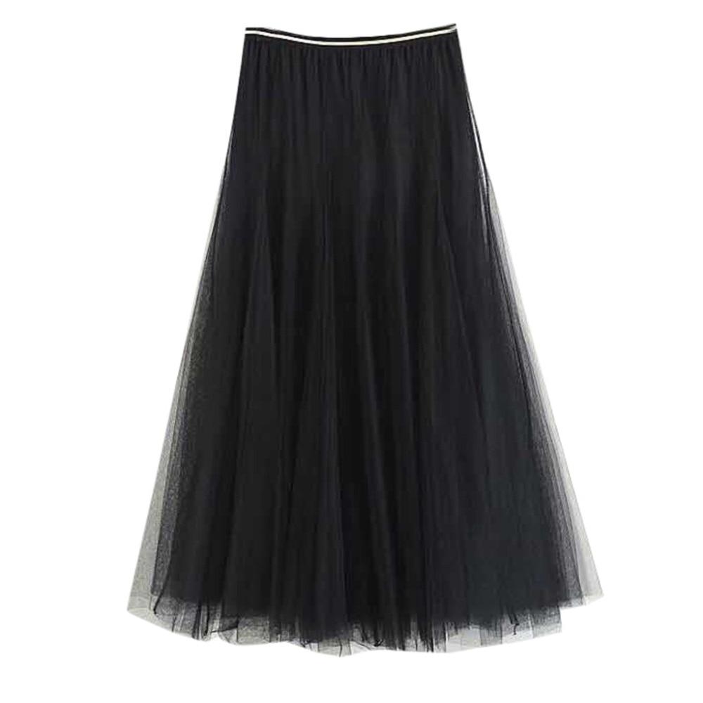 Bottoms Women Girls Big Swing Tulle Pleated Long Maxi Tutu Skirt High Waist Net Skirt Tutu Skirt Women Jupe Tulle Femme Vogue 3fn Sales Of Quality Assurance Skirts