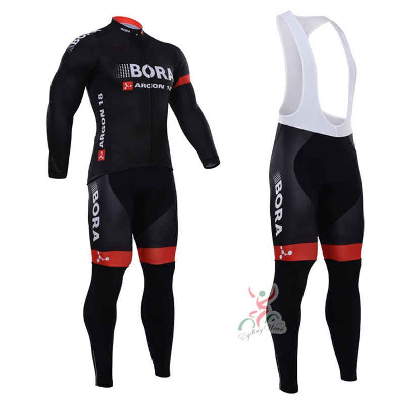 2018 BORA Mens Spring/Autumn Long Sleeve Pro Cycling Jersey Set Team Bike Clothes Ropa Maillot Ciclismo with 9D Gel Pad