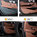 Car door leather Anti-Scrape Cover Stickers Car Accessories For Mercedes Benz E-Class W213 E200 E300 E320 2016 2017