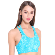CIM  Womens fitness gathered tie-dyed bra fashion vest running