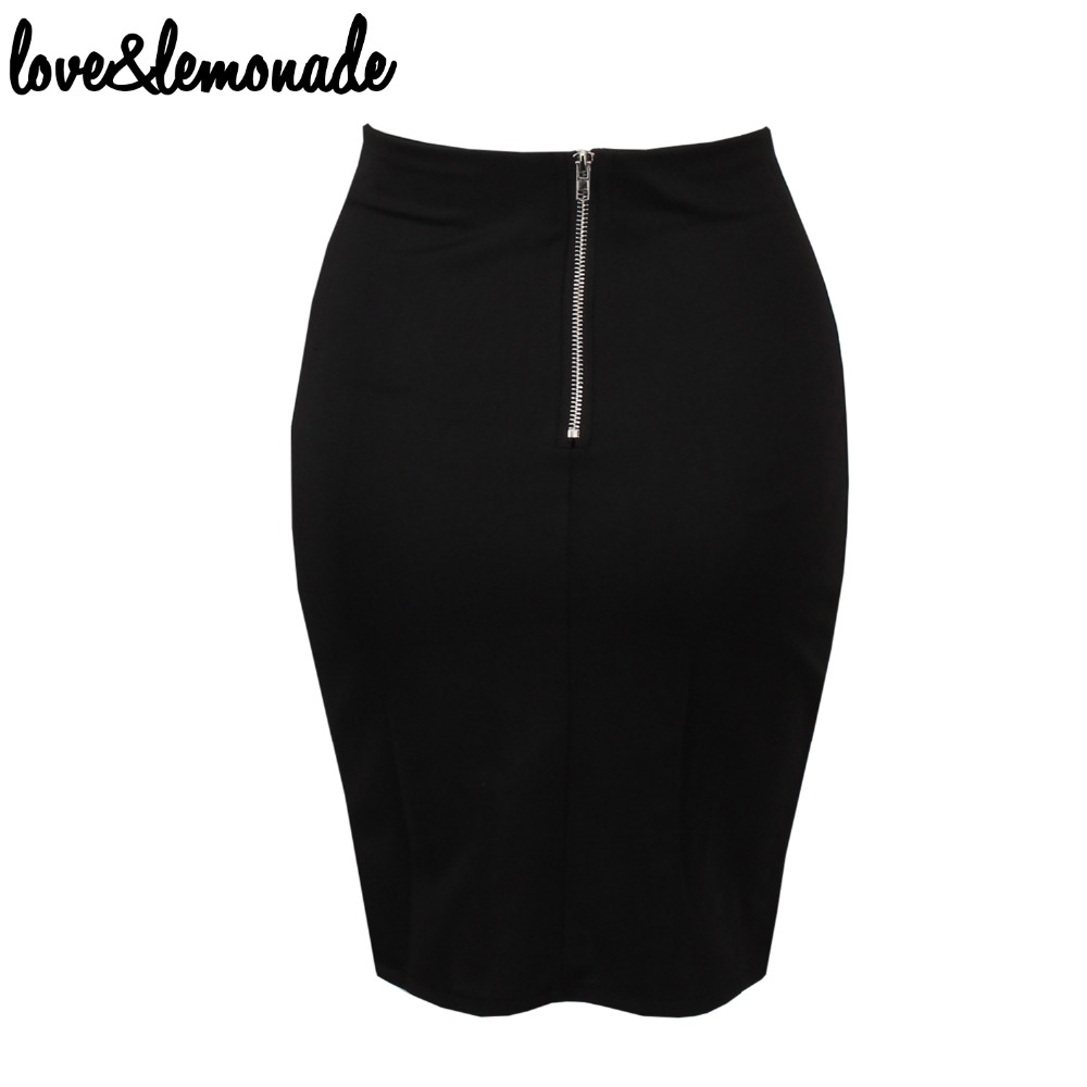 e47dac576d Love&Lemonade Black Gold Chain Cut Out Slim Skirt TB 9373-in Skirts from  Women's Clothing on Aliexpress.com | Alibaba Group