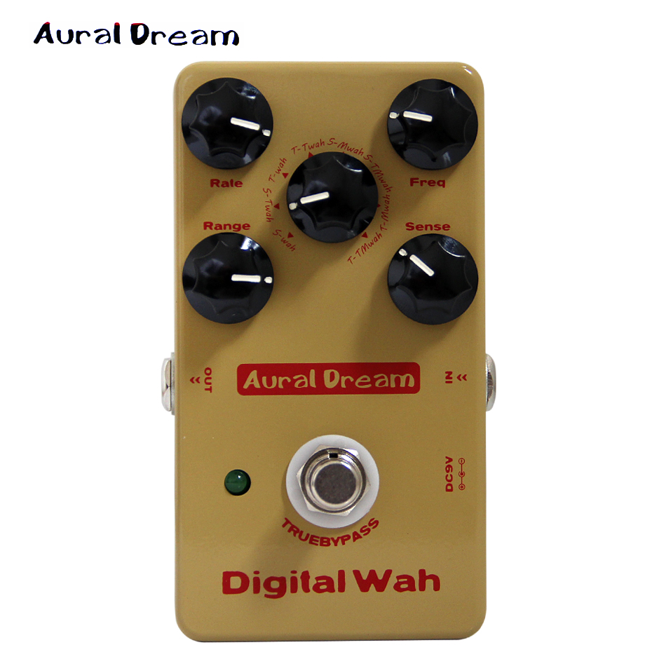 Aural Dream Digital Wah Pedal with True Bypass Design Wah Effects Guitar Pedal new kokko 2 inch 1 wah vol guitar pedal kw 1 mini wah volume combination multi effects pedal guitar accessories