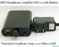 IWISTAO HIFI Portable Headphone Amplifier Transistor Earphone Amp ClassA HD1969 32 600 Ohm 650mW with 1400mAH Battery Tube Taste