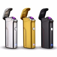 3 Colors Electric Arc Cigarette Lighter Innovative Replaceable Battery Electronic Cigar Lighter Rechargeable Windproof Lighter