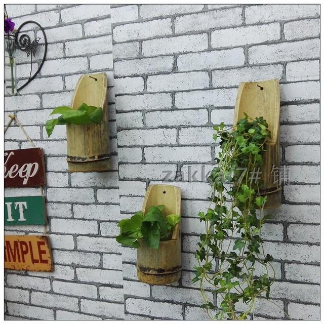 Zakka7 # Original Homemade Bamboo Flower Shop Original Ecology Of Natural Wall  Furnishings Decoration Creative Wall