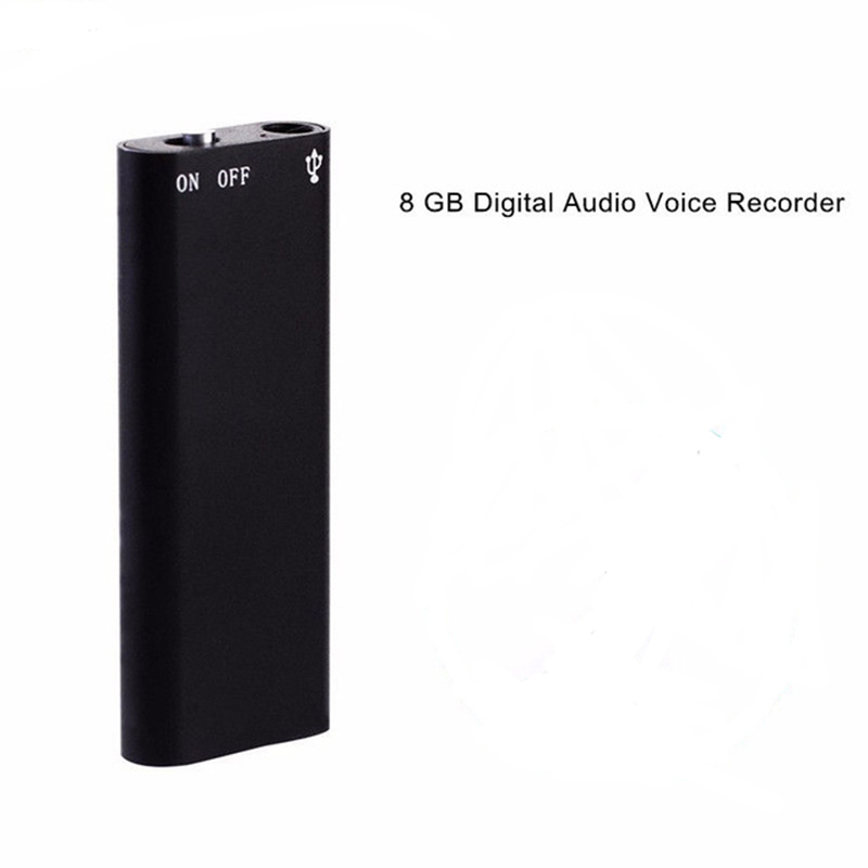 Digital Voice Recorder 8GB USB Flash Drive Multifunctional Rechargeable Mini Audio Recording Device with MP3 Player