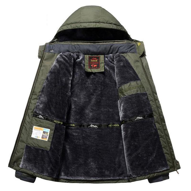 冬フリース軍事ジャケット男性防風防水生き抜くパーカーメンズウインドブレーカーウォームレインコートコートプラスサイズ 9XL オーバーコート  グループ上の メンズ服 からの パーカー の中 1