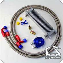 10 ROW AN-10AN UNIVERSAL  OIL COOLER+ FILTER KIT