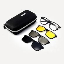2019 New Summer New Sunglasses Tr90 Trend Polarized Three-in