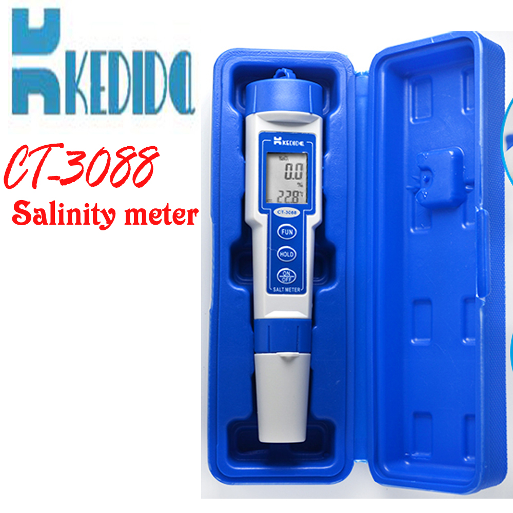 CT-3088 Salinity meter, ATC Automatic temperature compensation, range:0.0%-10.0% Concentration of Salinity tools