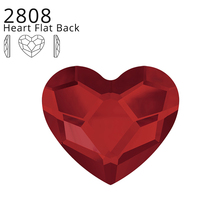 (1 PCS) Original Crystals From Swarovski 2808 Heart Flat Back No Hotfix For Women Nail Art Clothing Decoration Jewelry DIY