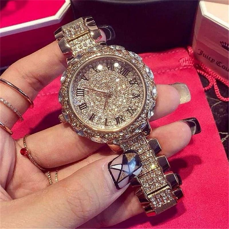 Buy 2017 new women rhinestone watches lady dress women watch diamond luxury for Celebrity watches female 2017