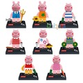 8 unids cerdo rosado mini narrador danny suzy pedro figura figuras de acción modelo de bloques de construcción de los animales lebq juguete compatible con lego