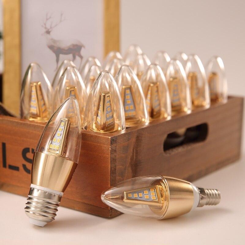 E27 LED Lamp E14 LED Bulb 220V Corn Bulb 24 36 48 56 69 72LEDs Chandelier Candle LED Light For Home Decoration