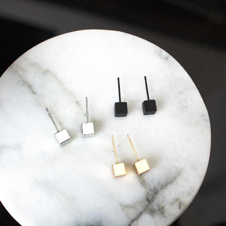 כסף זהב שחור 2017 אופנה חדשה פראי טמפרמנט עגילי קופסא תכשיטי מתנות לנשים עגילי האופנה תכשיטי סין