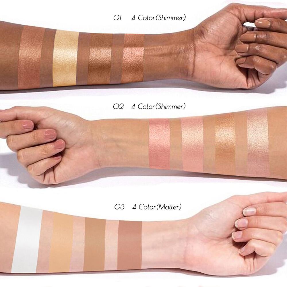 HUAMIANLI Pro Maquillage Compact Poudre Pour Le Visage Contour Maquillage Studio Fix Bronzer Ombrage Minérale Poudre Pressée Palette