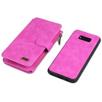 Handmade Multi Function Leather Wallet Case For HUAWEI Ascend P9 P10 Removable 2 In 1 14
