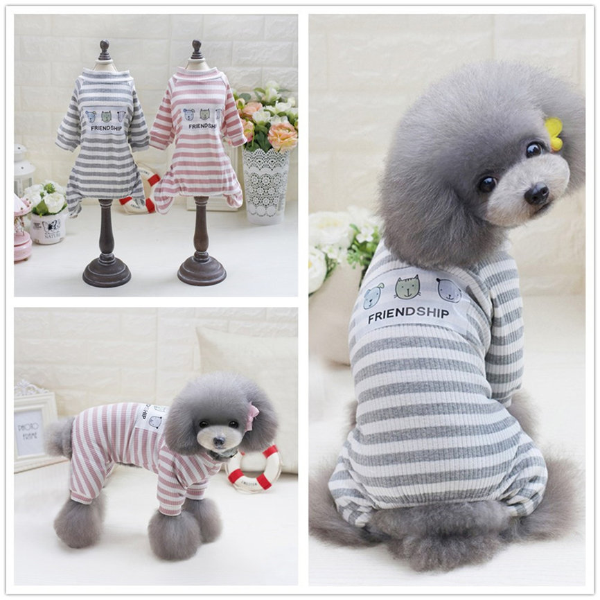 Four Leg Home Service Style Pet Cotton Dogs Coat Small Puppy Dogs Bib Clothing S~L Dropshipping &109