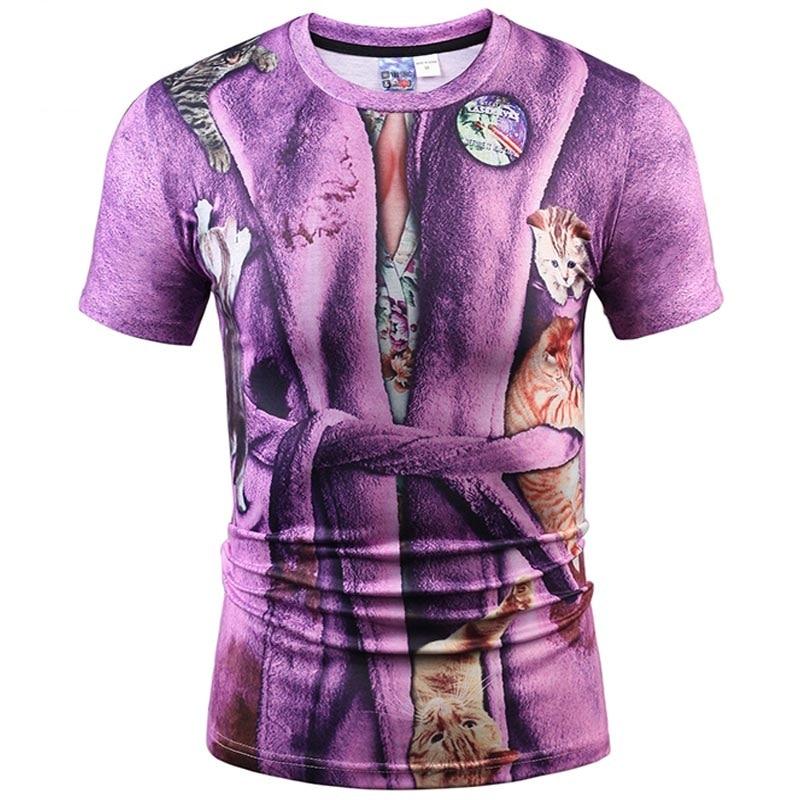 Hip Hop Fashion T-shirt Men/Women 3d T shirt Print Hat Bathrobes Fake Two Pieces Tee shirt Summer Tops Tees Plus S-5XL R1888