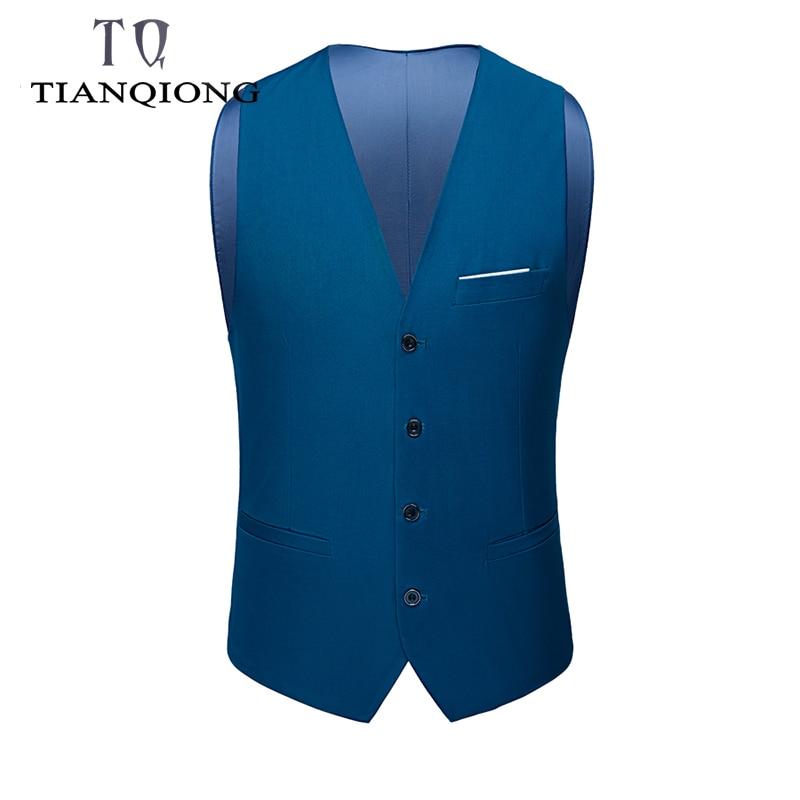 2019 Socially Male Slim Fit Vest Suit Men Waistcoat Suit Vest Fashion Formal Business Casual Sleeveless S-6XL Plus Size