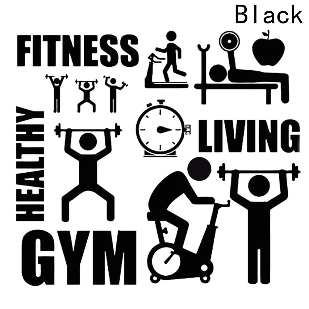 1/Pc Removable Vinyl Wall Stickers Home Decor Fitness GYM Healthy Sports Wall Decals Living Room Decoration