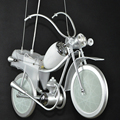 Ferro Motocicleta Dos Desenhos Animados Criativo Luzes LED Simples Moderno Estudo Quarto Quarto das Crianças Sala de Luz Pingente de Vidro Levou