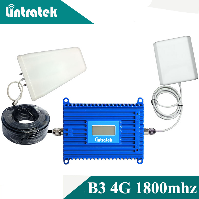 LCD Display GSM 4G 1800 Cell Phone Booster Antenna GSM 1800mhz 4G LTE 1800mhz Mobile Signal Repeater Cellular Amplifier Set #6+1