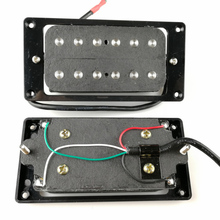 все цены на Humbueker Double Row Open Electric Guitar Humbucker Pickups Set Black Made In Korea онлайн