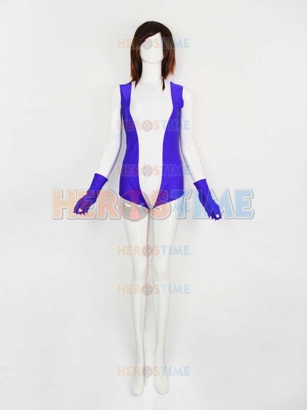 Spandex White & Purple She-hulk Superhero Costume Female Halloween Cosplay Party Costume Hot Sale